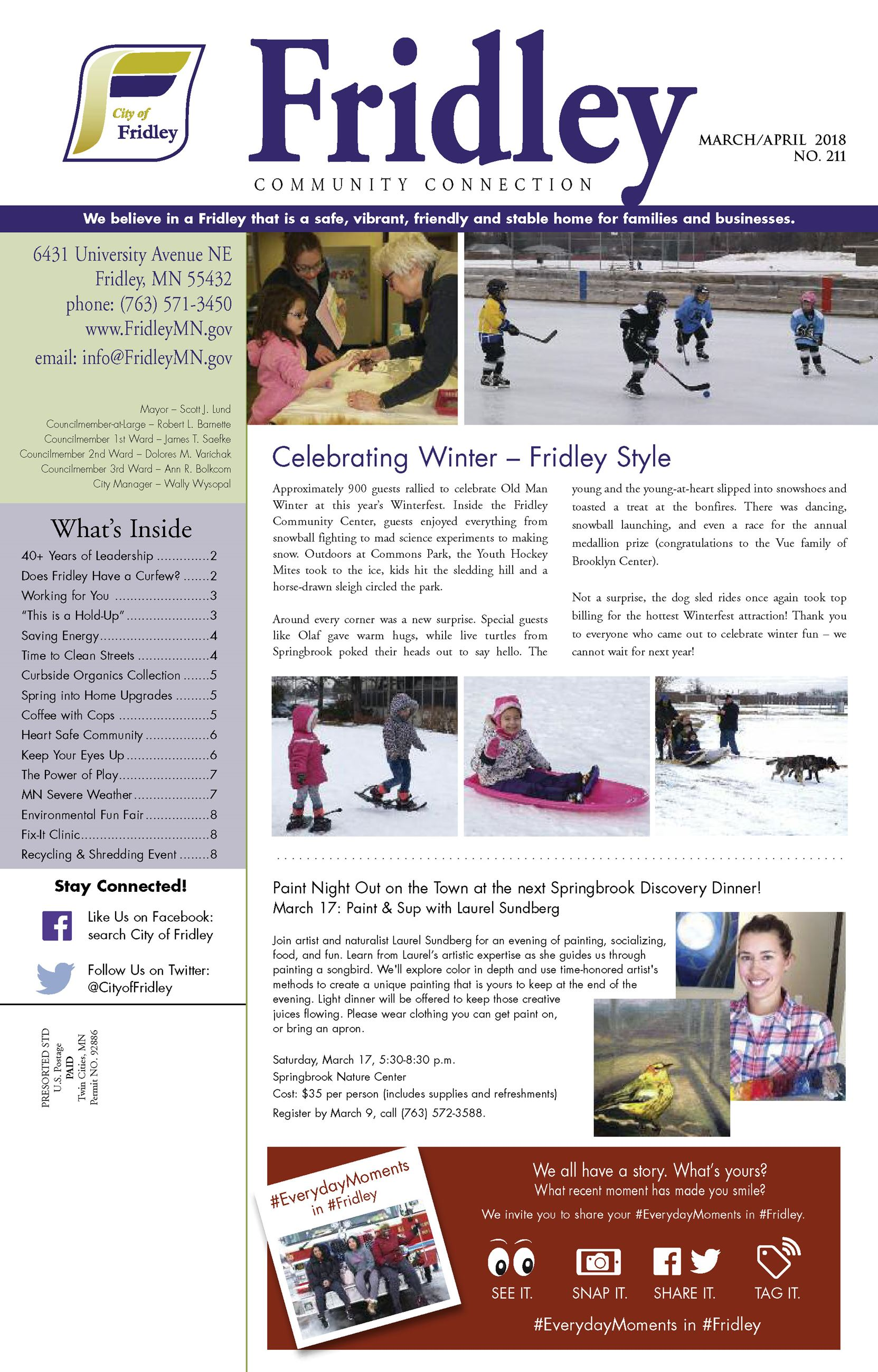 March 2018 newsletter front page